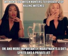 American Horror Story Coven, Jessica Lange, Fiona, Angela Bassett, Marie, Boardroom, Witches, Funny
