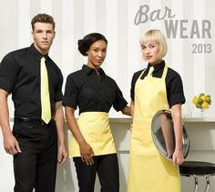 From a high class city cocktail bar to the local village pub, bar staff are the welcoming face of any establishment.  Colour co-ordinate your team with Premier's range of aprons, shirts, blouses and accessories.