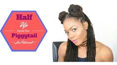 Half Up Double Bun Piggytail Loc Tutorial/Jungle Barbie