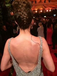 Courtney Cason on the #redcarpet at the 2014 #QVC Red Carpet Event! Hair by Sarah Potempa. #Wrapup #thewrapup #updo #braid #braids #brunette #beautiful #pretty #fashion #hairstyle