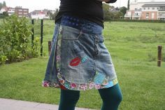 Styna and Karlson: Recycle-style denim skirt