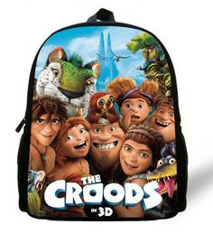 12-inch Mochila School Kids Bags Boys Croods Backpack Kindergarten Cartoon Croods School Bags Children Girls Bolsa Infantil