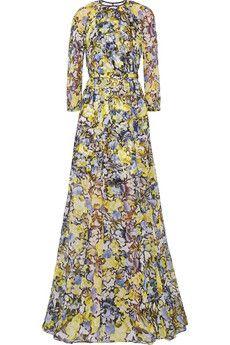 Erdem Lamara floral-print silk-chiffon gown | NET-A-PORTER