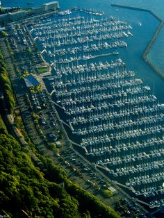 Shilshole Marina in Seattle, Washington - Washington has one of the highest boats per capita in the entire nation. Eason? Puget Sound, plentiful lakes, and the ocean!