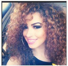 Mixed race curly beautiful hair