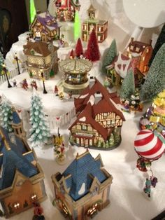 2013 Department 56 North Pole Village- over 40 buildings - this section features Disney buildings