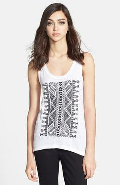 Rebecca Minkoff 'Gia' Embroidered Knit Tank available at #Nordstrom