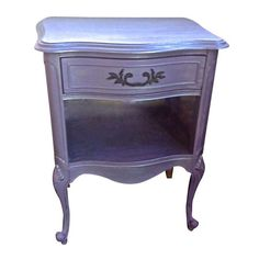 Silvered-Lavender French Style Side Table - $550 Est. Retail - $425 on Chairish.com