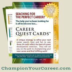 Searching for the perfect #career? The help you've been looking for is all inside one box... ChampionYourCareer.com Career Coach, New Career, Good Advice, Self Development, Dream Life, Margarita, Good To Know, Searching, The Help