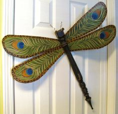Table Leg Spindle Dragonfly Wall or Garden by LucyDesignsonline,