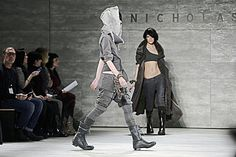 The looks by Nicholas K, which opened New york Fashion Week, evoked a post-apocalyptic world. - AFP