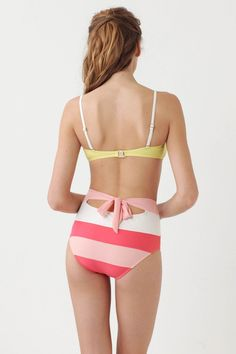 Amazing high-waisted swim suit from Anthropologie.