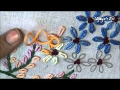 Beautiful Hand Embroidery Work Designs # 95 - Lazy daisy stitch