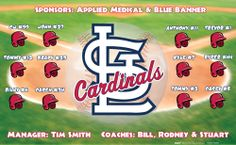 Cardinals digitally printed vinyl baseball and little league sports team banner. Made in the USA and shipped fast by Banners USA. http://www.bannersusa.com/art/templates_2/digital/banners/vinyl-baseball-team-banners.php