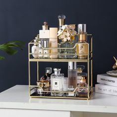 Perfume Storage, Perfume Organization, Perfume Display, Perfume Tray, Makeup Storage Shelves, Makeup Storage Organization, Make Up Storage, Dressing Table Organisation, Cosmetic Storage