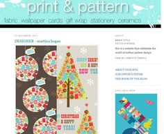 Martina Hogan features on the Print and Pattern bog!