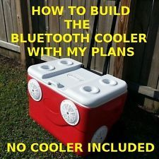 BLUETOOTH STEREO COOLER PLANS - ALL STOCK INSIDE COOLER - YOUTUBE VIDEO