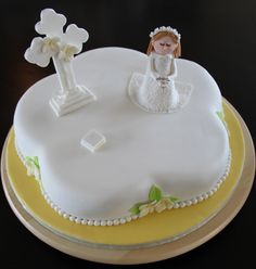 first communion cake - First communion cake I made for the eldest child that I nanny for