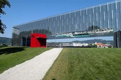 <b>Lentos Museum of Modern Art</b>, Linz, Austria - Archivenue Museum Of Modern Art, Art Museum, Signage, Facade, Sidewalk, Typography, 1, Architecture, Thesis