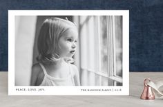 """""""Tiny Blessings"""" - Modern, Minimalist Holiday Photo Cards in Snow by That Girl Press."""