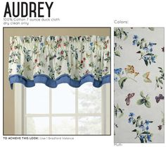 Audrey's Flowers Valance with flowers and butterflies