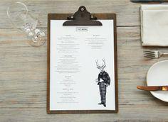 clean & sophisticated menu