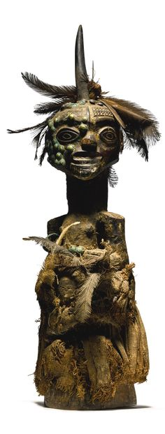 Songye Power Figure, Democratic Republic of the Congo Height: 20 inches cm) James M. Silberman, Washington, D., acquired in Kinshasa in the African Museum, Afrique Art, Statues, African Sculptures, Art Premier, Sculpture Painting, African Tribes, Soul Art, Afro Art