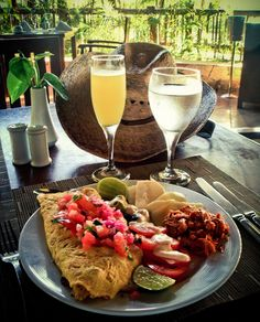 A mexican breakfast made with heart! repost  by Pickitup-Foundation