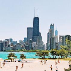Summer in the city   Castaways Beach, Chicago, Illinois