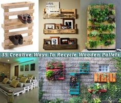 Re-purpose those pallets that are destined for the dump.   Remember.  That used to be a tree.!!    pallets
