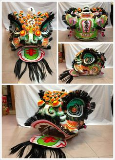 Interesting colour scheme. Chinese lion dancing