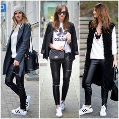 Resultado de imagem para look adidas superstar feminino