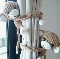 Monkey curtain holders