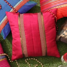 ANS Cushion Cover Pink And Gold
