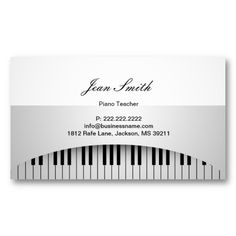 20 best piano teacher business cards images on pinterest teacher piano teacher pure white piano keys music business card colourmoves