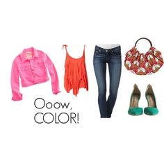 Ooow, COLOR!, created by kaelabags on Polyvore