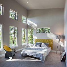 Schlafzimmer retro Stil Bett Lampe Stuhl