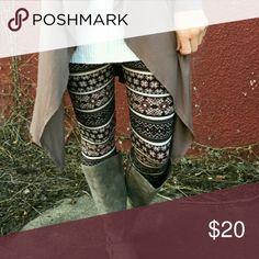 Selling this Print leggings on Poshmark! My username is: danabroadnax. #shopmycloset #poshmark #fashion #shopping #style #forsale #Pants