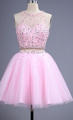 Charming Pink Homecoming Dress