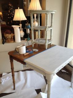 $75 table turned into priceless treasure with Amy Howard One Step Paint! Workshops going on now at Kim Hoegger Home Dallas!