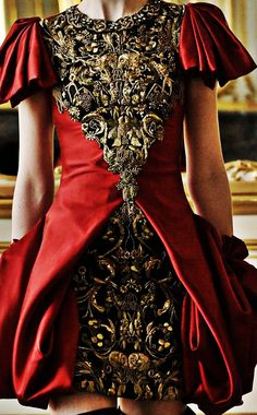 Baroque Red Dress, Alexander McQueen