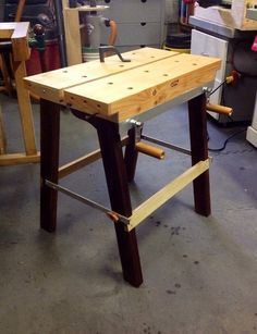 Collapsible workbench, the mother of all Workmates.