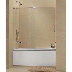DreamLine Mirage 56 to 60-inch Frameless Sliding Tub Door | Overstock.com Shopping - The Best Deals on Shower Doors