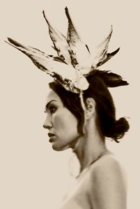 winged headpiece Photo by Eric Rose