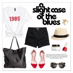 """""""#slogantshirts"""" by hellodollface ❤ liked on Polyvore featuring H&M and slogantshirts"""
