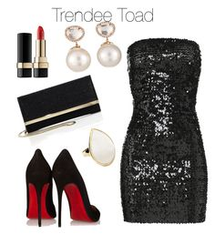 """HappyNew Years Outfit!"" by trendytoad on Polyvore featuring Christian Louboutin, Faith Connexion, Jimmy Choo, Ippolita, Samira 13 and Dolce&Gabbana"