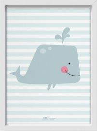 Eef Lillemor 'A3 Poster Giant Whale'