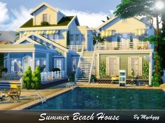 Lot: Found in TSR Category 'Sims 4 Residential Lots' Sims 4 House Plans, Sims 4 House Building, Sims 4 Houses Layout, House Layouts, Sims3 House, Sims 4 House Design, The Sims 4 Lots, Casas The Sims 4, Sims 4 Build