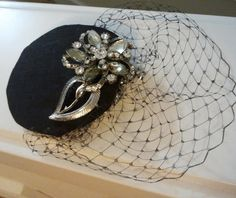 Brand New - MADMEN inspired  50's Style  mini hat with by fascinatingbride, $39.99