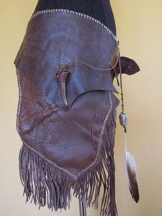 Tribal Primitive Hand Sewn Leather by RoyalPeasantryDesign on Etsy